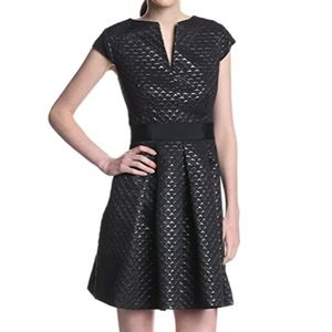 Ted Baker Carice Metallic Jacquard Textured Dress